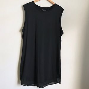 Athleta Black Sleeveless Dress Mesh Lining Sz XL